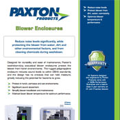Paxton Blower Enclosures Brochure