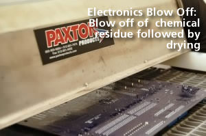 Electronics Blow-Off close-up