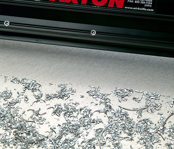 Close up of metal shavings